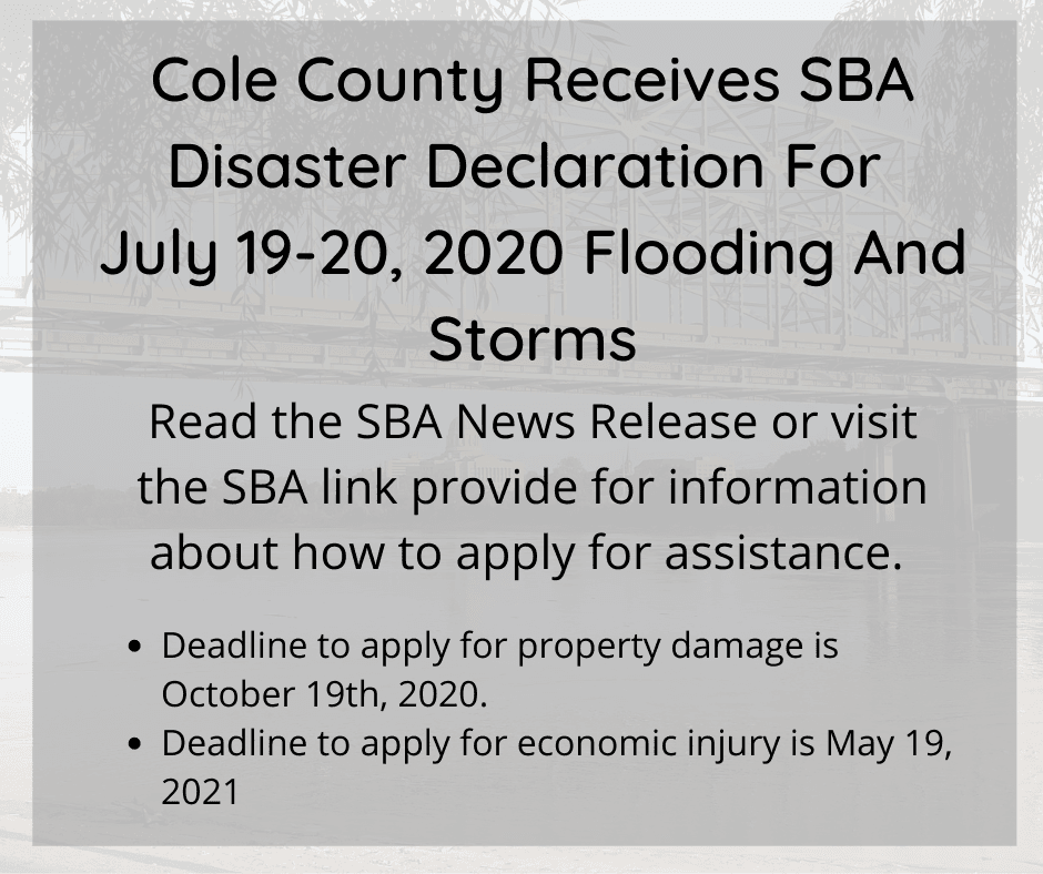 SBA Disaster Declaration
